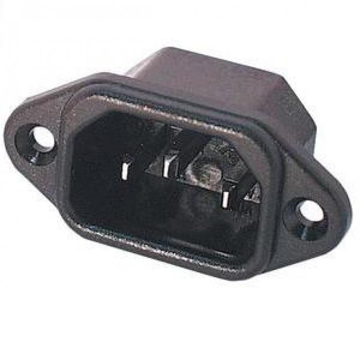 Imagine Conector de alimentare pentru lipit 230V/tata IEC C14