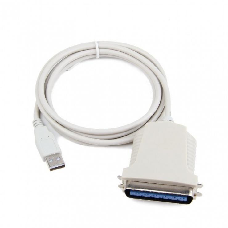 Imagine Cablu USB la paralel Centronics 36 pini 1.8m, Gembird CUM360-1