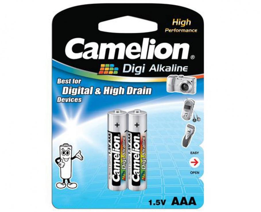Imagine Blister 2 baterii alcaline Camelion DIGI AAA LR3