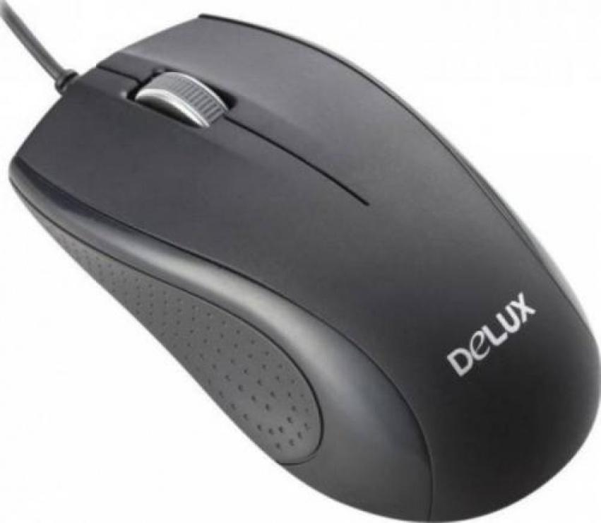 Imagine Mouse optic USB Negru, Delux DLM-136BU