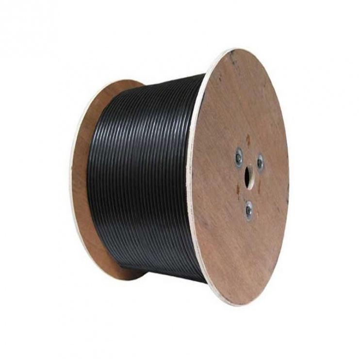Imagine Rola Cablu coaxial RG59 CCA cu alimentare 200m OFC, Hikvision DS-1LC1SCA2C-200B