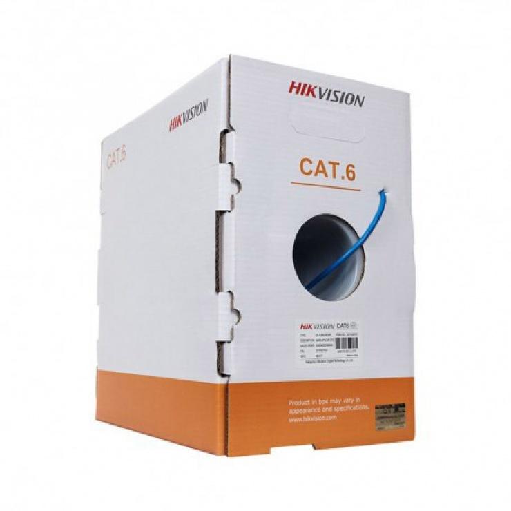 Imagine Rola cablu de retea cat.6 UTP 305m Cu, Hikvision DS-1LN6-UU