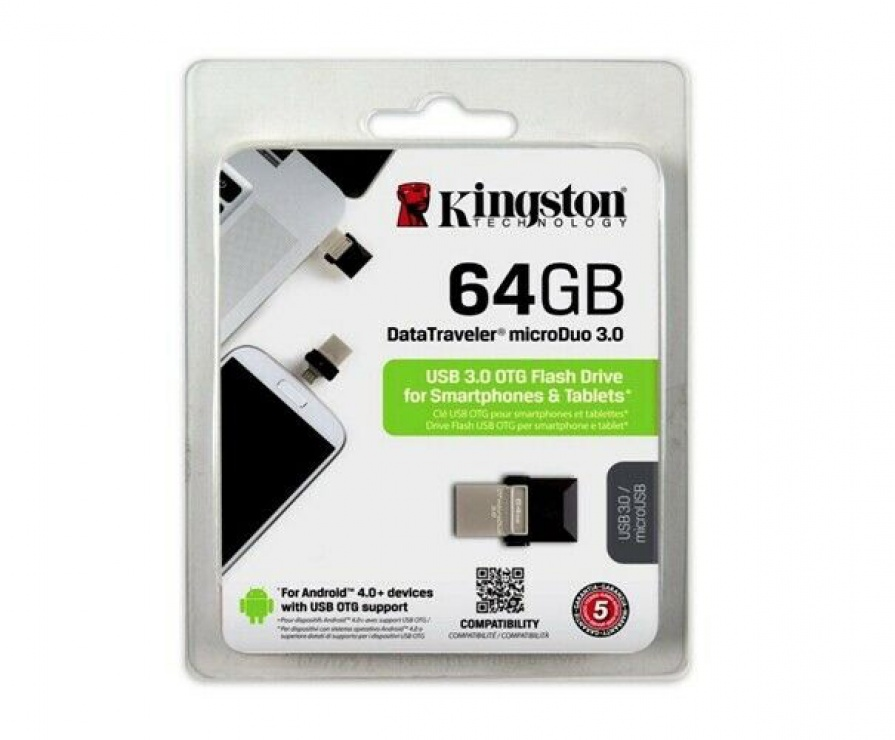Imagine Stick USB 3.0 64GB KINGSTON DATA TRAVELER Micro Duo OTG, DTDUO3/64GB-2