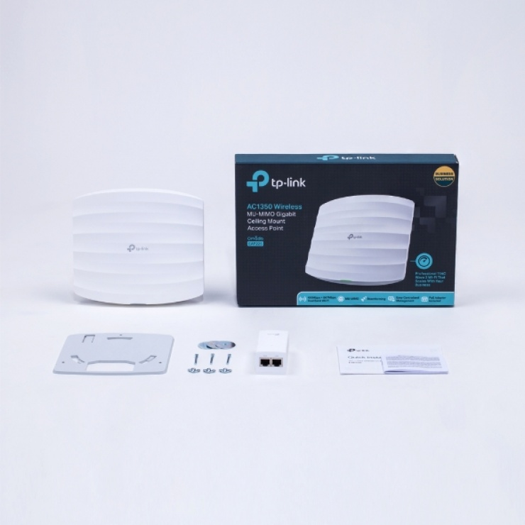 Imagine Access Point Wireless Dual Band Gigabit cu posibilitate de montare pe tavan, TP-LINK EAP225-4