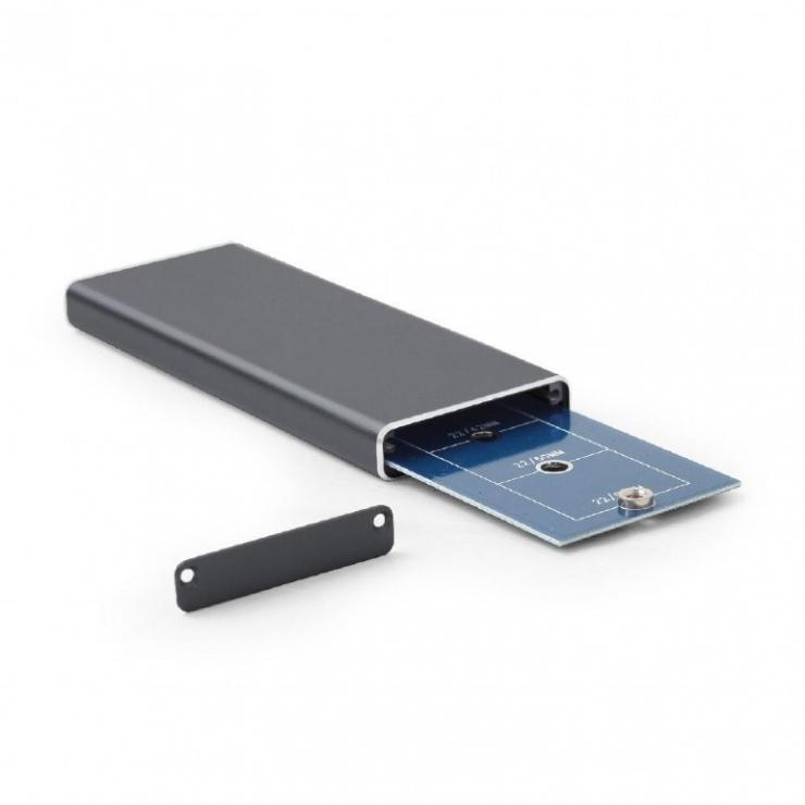 Imagine Rack extern USB 3.1 pentru SSD M.2 Negru, Gembird EE2280-U3C-01-3