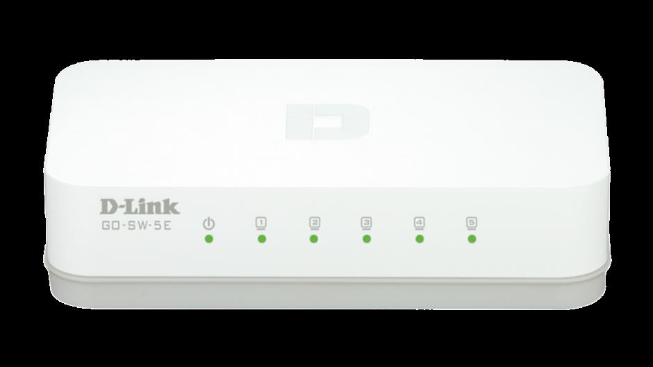 Imagine Switch 5 porturi 10/100 Mb/s, D-LINK GO-SW-5E