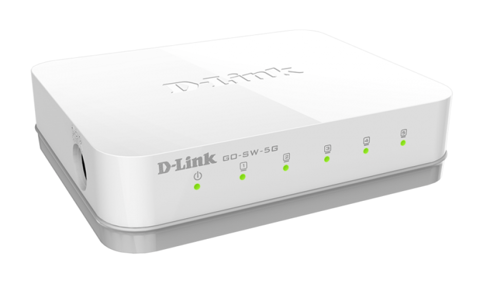 Imagine Switch 5 porturi Gigabit, D-LINK GO-SW-5G