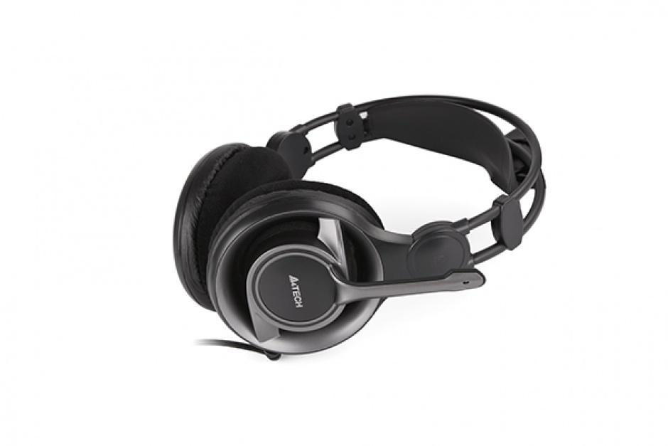 Imagine Casti Stereo cu microfon ComfortFit, A4Tech HS-100-2