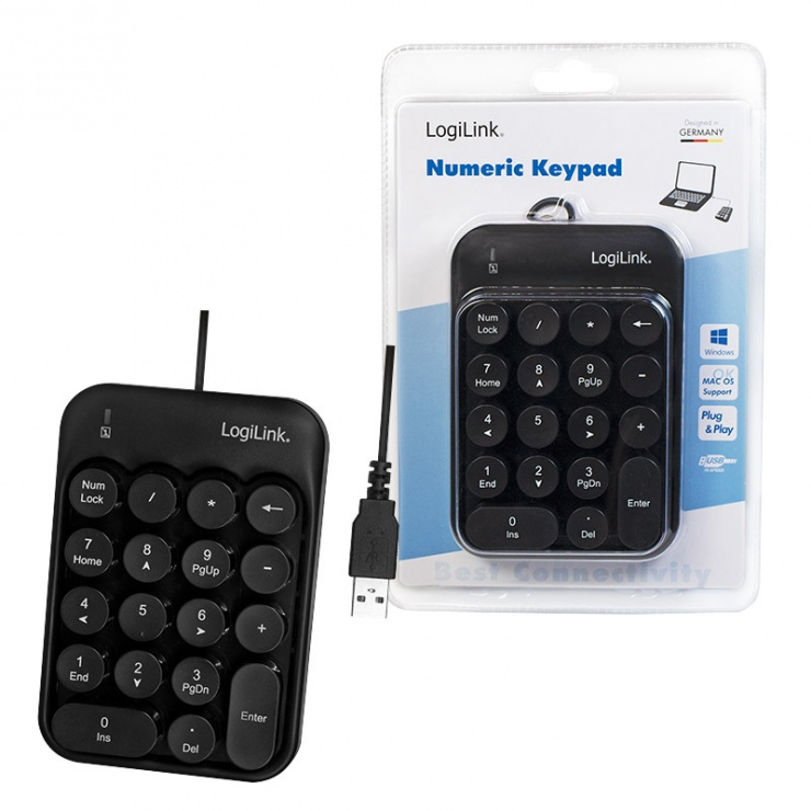 Imagine Tastatura numerica USB, Logilink ID0174-5