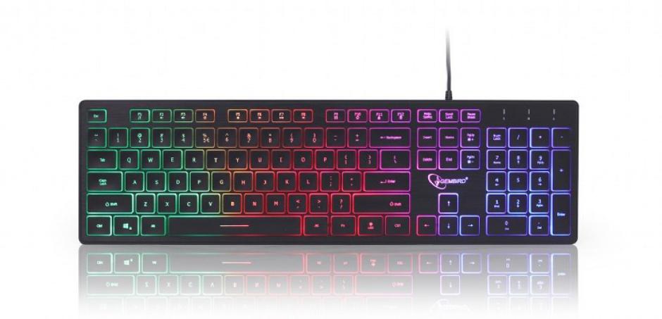 Imagine Tastatura multimedia USB Rainbow, Gembird KB-UML-01
