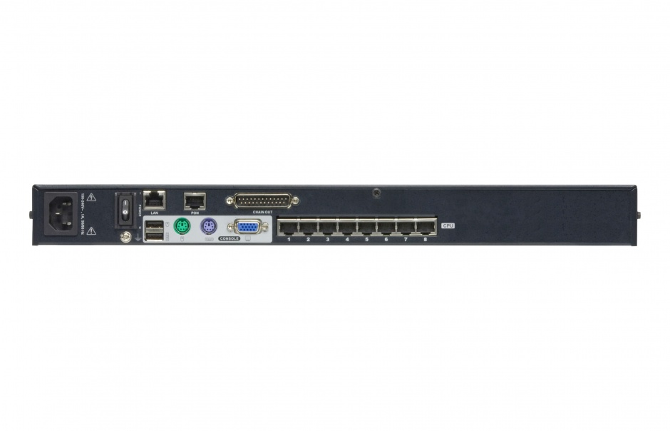 Imagine Switch KVM over IP Cat 5 8 porturi cu Daisy-Chain Port, Altusen KH1508Ai-1