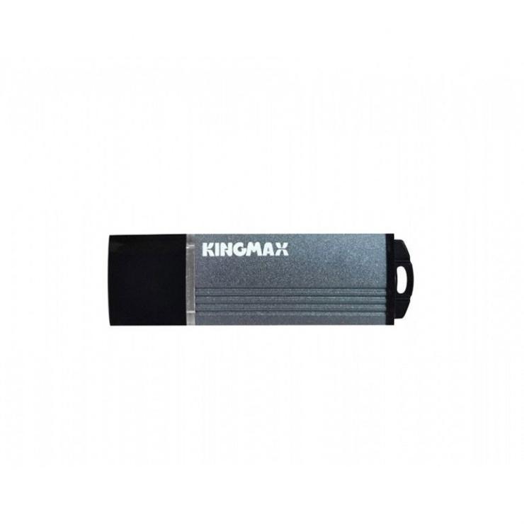Imagine Stick USB 2.0 16GB MA-06 aliaj aluminiu Gri, Kingmax