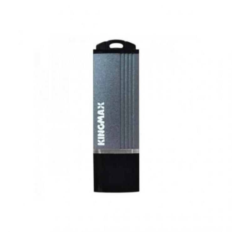 Imagine Stick USB 2.0 16GB MA-06 aliaj aluminiu Gri, Kingmax-1