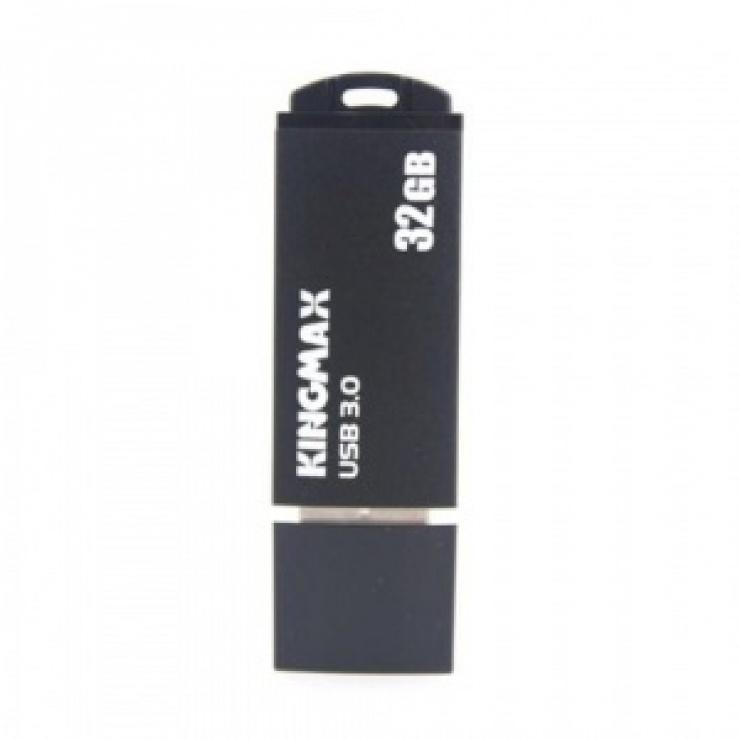 Imagine Stick USB 3.0 32GB MB-03 compact, aliaj aluminiu Black, Kingmax