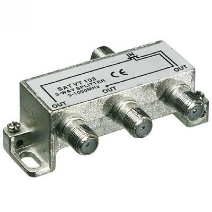 Imagine Splitter coaxial (antena tv) 3 porturi 5-1000 MHz, 67020