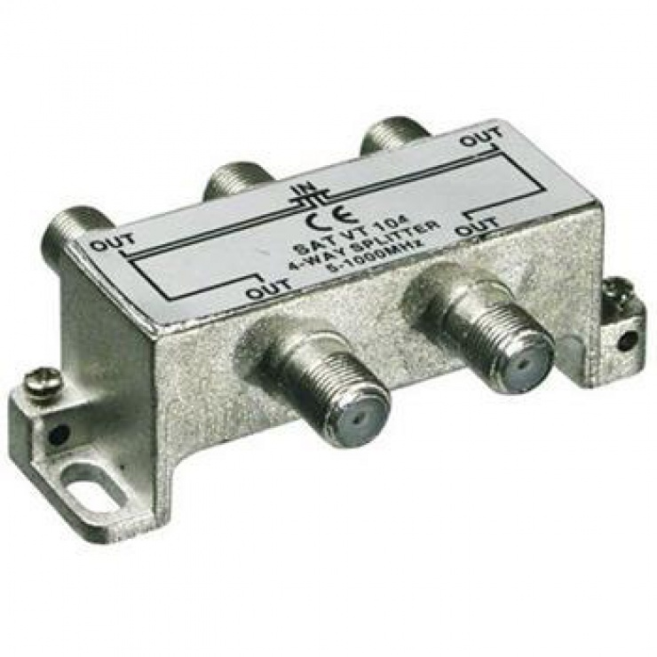 Imagine Splitter coaxial (antena tv) 4 porturi 5-1000 MHz
