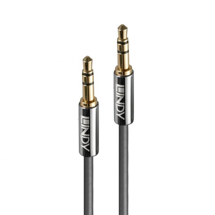 Imagine Cablu audio jack stereo 3.5mm CROMO LINE T-T 5m, Lindy L35324