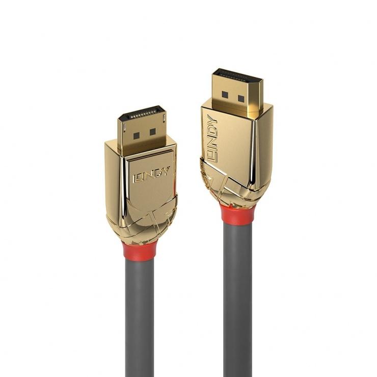 Imagine Cablu Displayport 8K60Hz/4K120Hz UHD (DP certificat) v1.4 T-T 2m Gold Line, Lindy L36292
