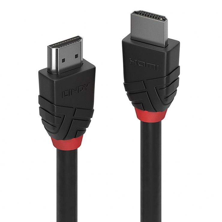 Imagine Cablu HDMI v2.0 Black Line T-T 1m, Lindy L36471