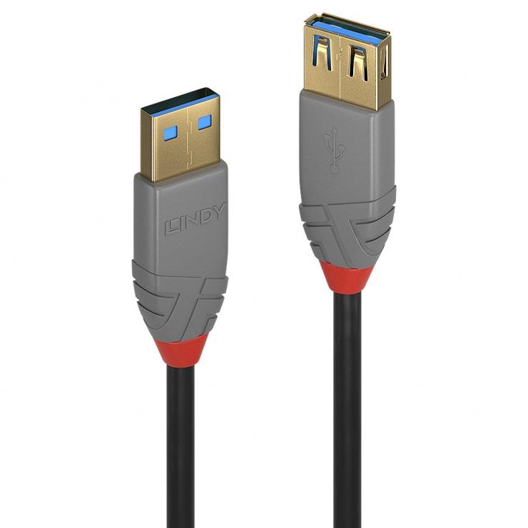 Imagine Cablu prelungitor USB 3.0 T-M 2m Anthra Line, Lindy L36762