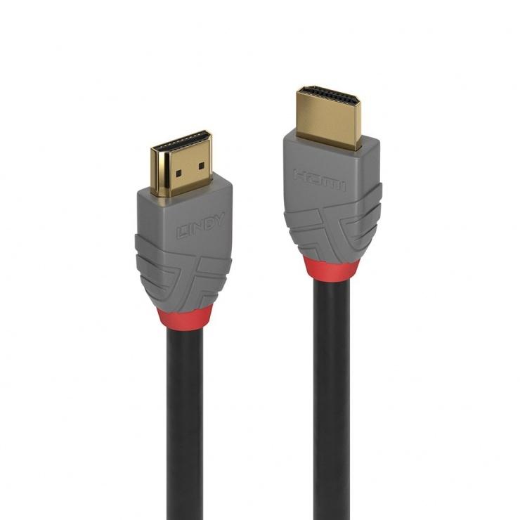 Imagine Cablu HDMI Ultra HD 4K Anthra Line T-T 0.5m, Lindy L36961