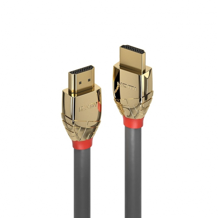 Imagine Cablu HDMI UHD 4K60Hz Gold Line 10m T-T, Lindy L37866