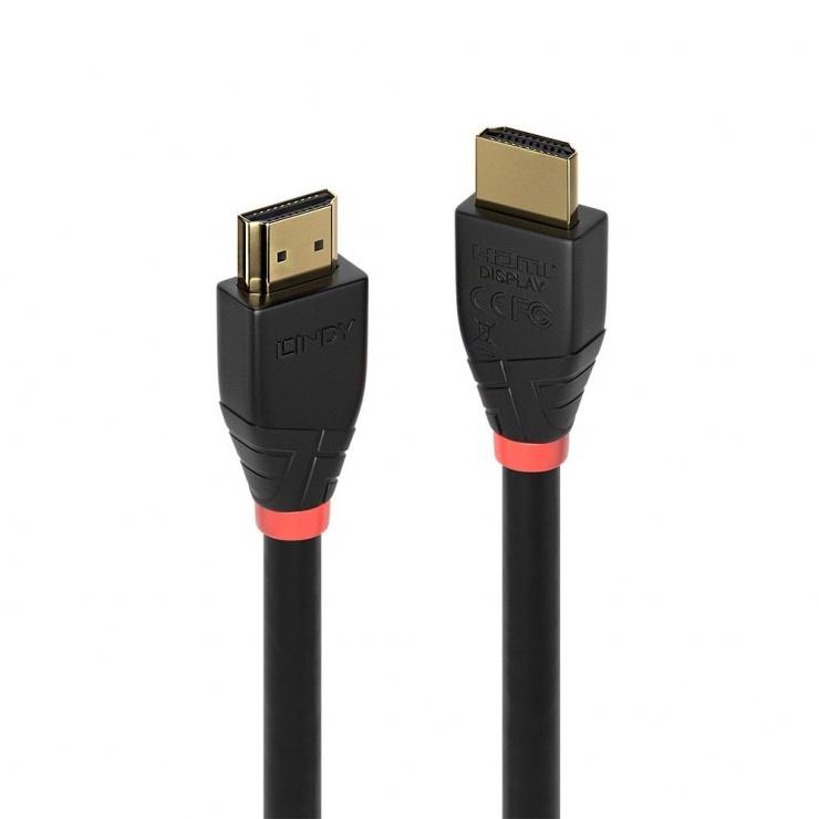Imagine Cablu HDMI activ v2.0 4K T-T 25m Negru, Lindy L41074