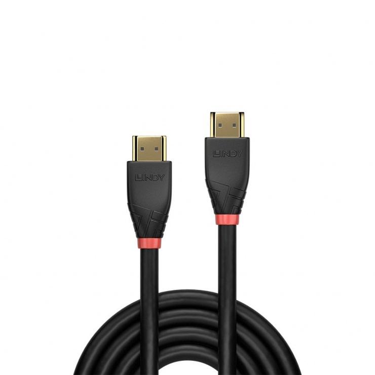 Imagine Cablu HDMI activ v2.0 4K T-T 25m Negru, Lindy L41074-1