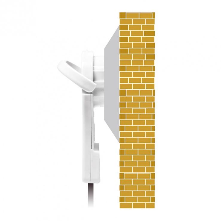 Imagine Priza Schuko 16A conector flat cu maner pliabil ergonomic Alb, Logilink LPS228-4