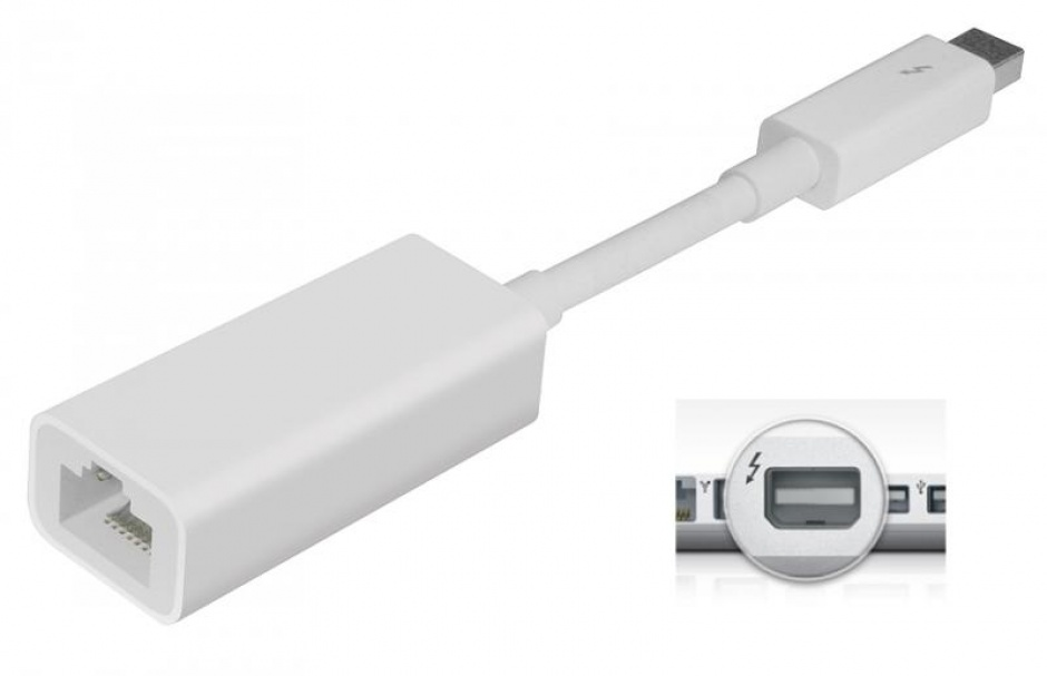 Imagine Adaptor Thunderbolt la Gigabit LAN, Apple MD463ZM/A