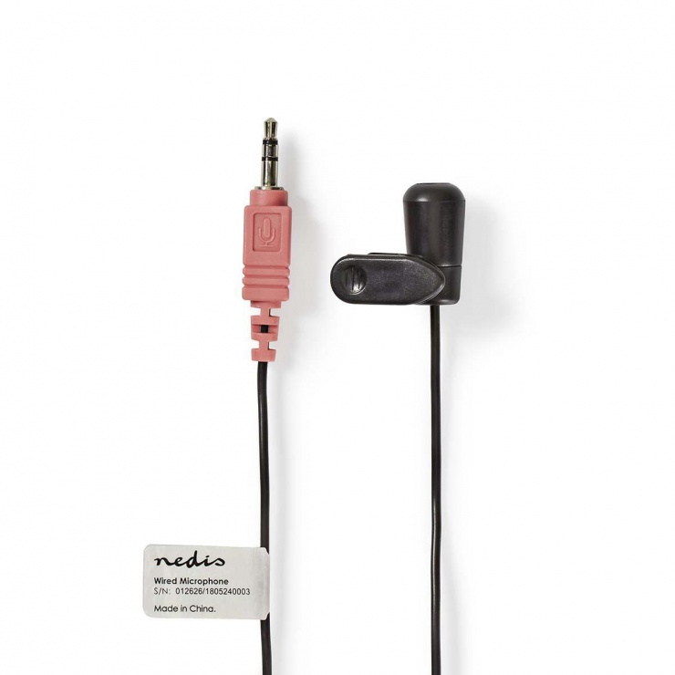 Imagine Microfon lavaliera cu clip jack 3.5mm, Nedis