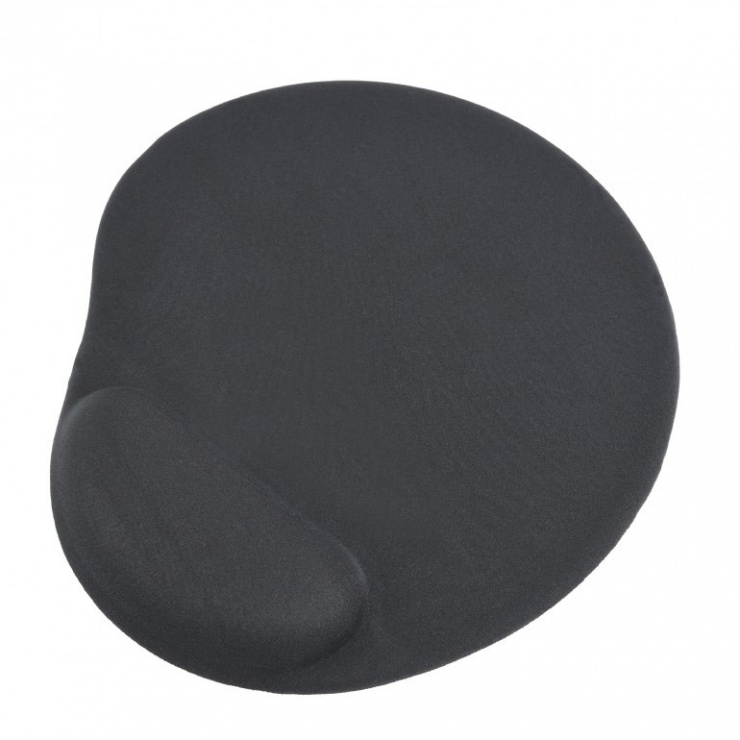 Imagine Mouse pad cu gel baza de cauciuc antiderapanta Negru, MP-GEL-BK-2