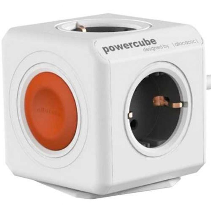 Imagine Prelungitor in forma de cub PowerCube Remote 4 prize 1.5m cu Switch, Allocacoc-1