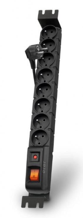 Imagine Prelungitor cu protectie rackabil 8 prize 1.5m Negru, Acar S8 FA