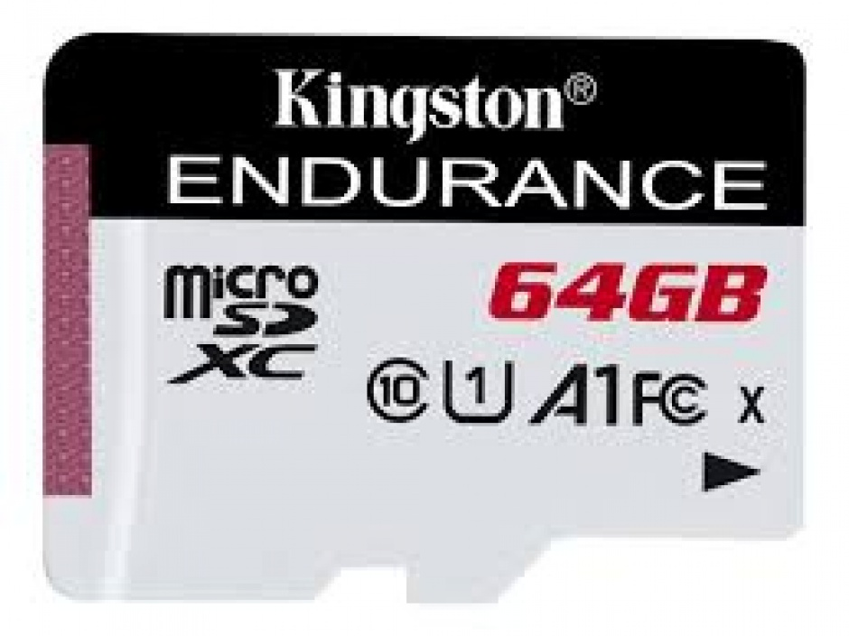 Imagine Card de memorie micro SDXC 64GB clasa 10 UHS-I High Endurance, Kingston SDCE/64GB
