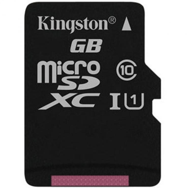 Imagine Card de memorie micro SDXC Canvas Select 128GB clasa 10, Kingston SDCS/128GBSP