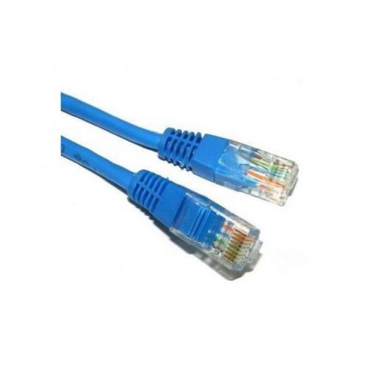 Imagine Cablu de retea UTP cat 5e 10m Albastru, Spacer SP-PT-CAT5-10M-BL