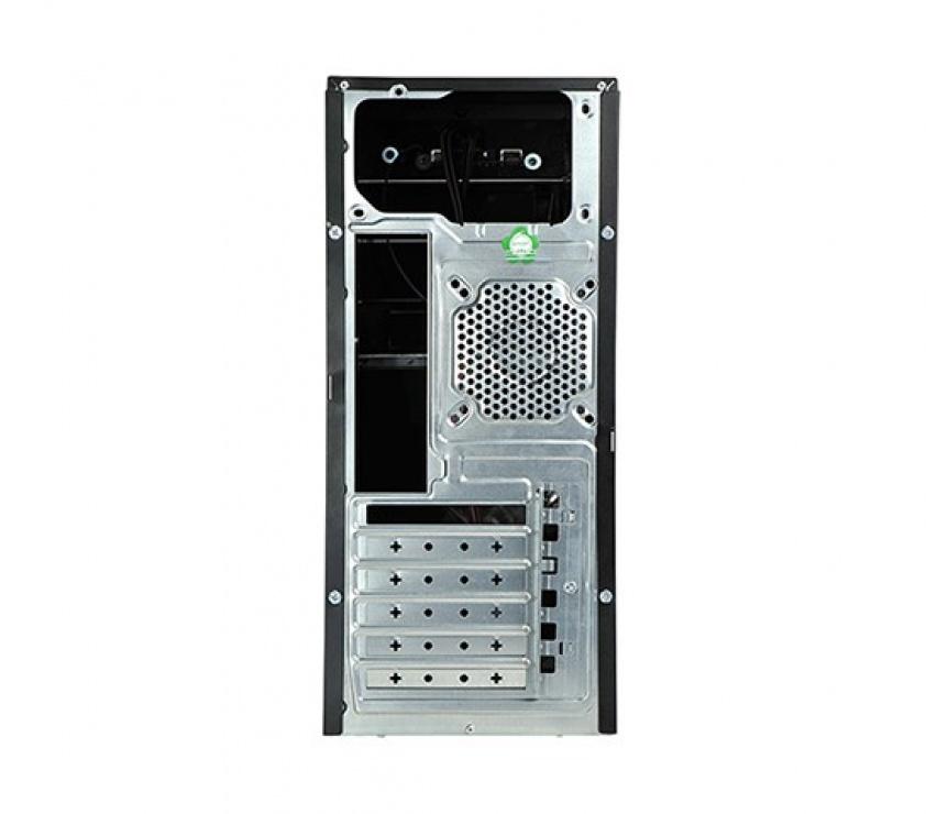 Imagine CARCASA ATX, front USB & audio, suport 2x 80mm fan, black, sursa OEM 420, Spire SP1071B-420W-E1