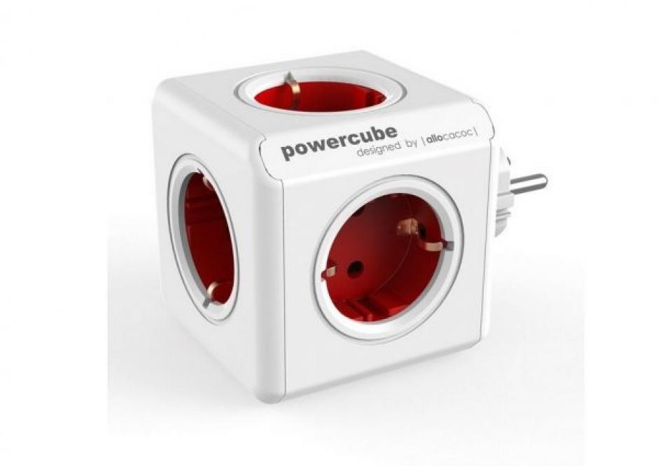 Imagine Priza cubica Power Cube cu 5 x prize Schuko 16A, ALLOCACOC