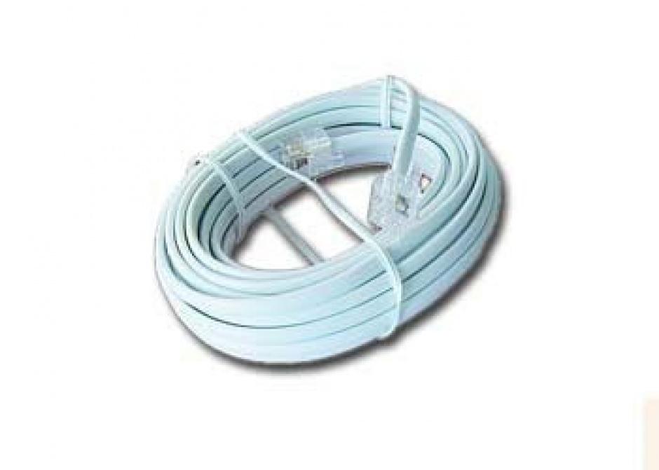 Imagine Cablu telefon RJ11 6P4C 2m Alb, Gembird TC6P4C-2M