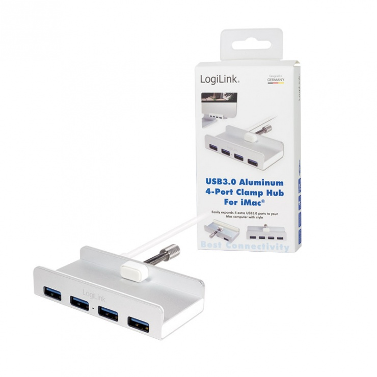Imagine HUB USB 3.0 cu 4 porturi iMac Design, Logilink UA0300