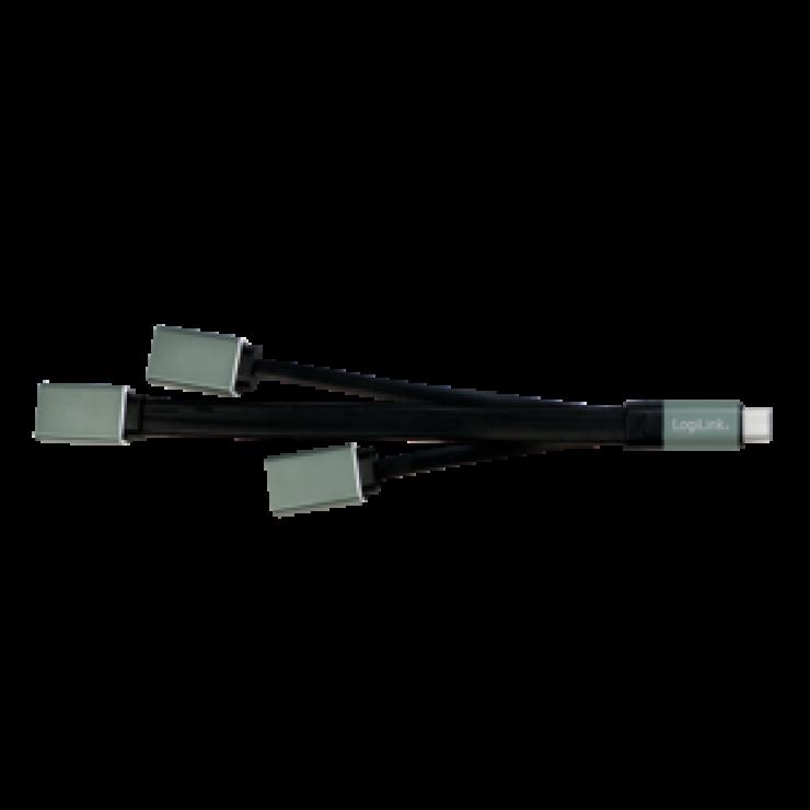 Imagine HUB USB tip C cu 3 porturi (1 x USB 3.0 si 2 x USB 2.0), Logilink UA0315