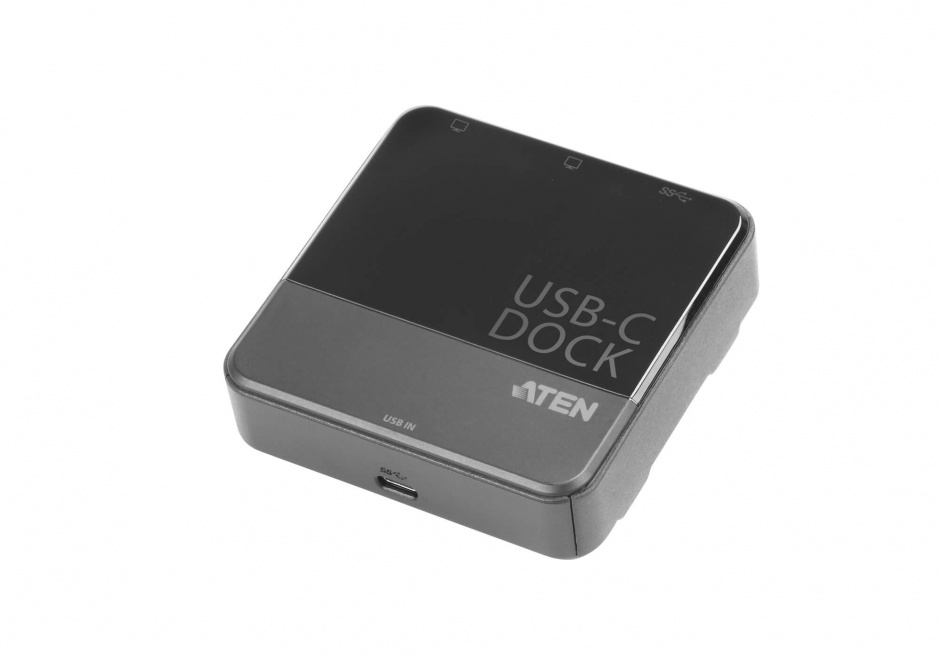 Imagine Mini Docking station USB tip C la 2 x HDMI 4K + USB-A, ATEN UH3233