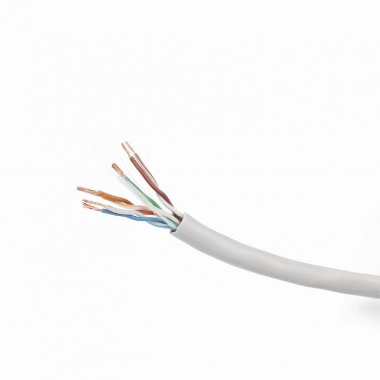 Imagine Rola cablu de retea UTP RJ45 cat 5e 100m CCA litat, Gembird UPC-5004E-L/100