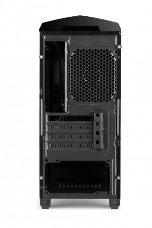 "Imagine CARCASA GAMING X2 ""NEXTYDE"" mATX front USB & audio, suport 5x 120mm fan, side window Negru, SPIRE X2-6021B-CE/R-2U3"