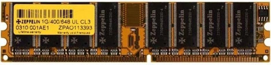 Imagine Memorie DDR400 1GB Dual channel, Zeppelin ZE-DDR1G400-b