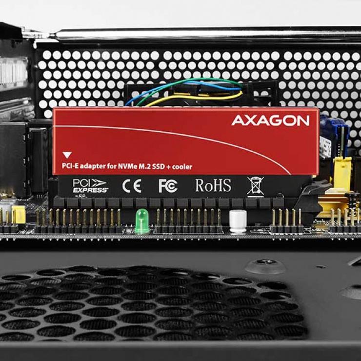 Imagine Adaptor PCI Express la M.2 NVME, Axagon PCEM2-S-9