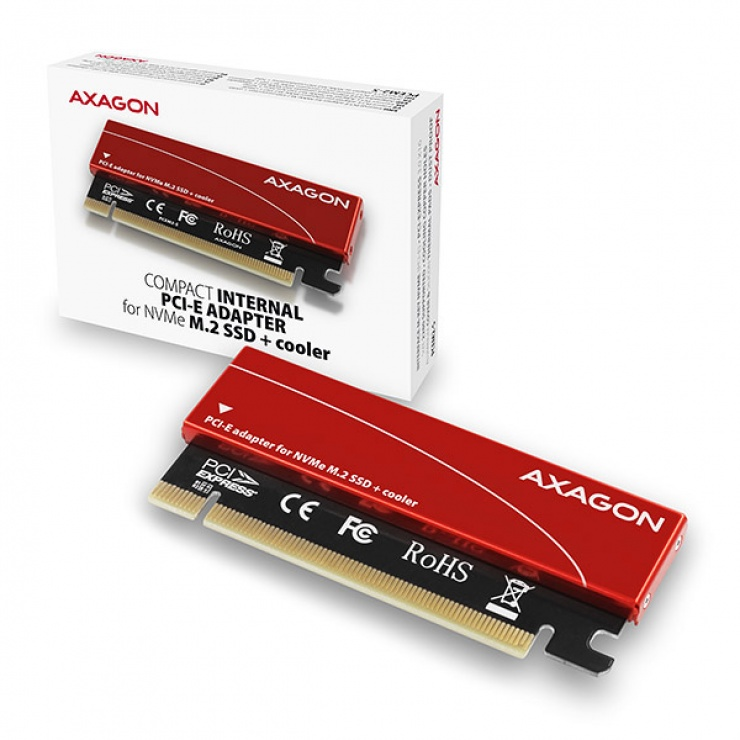 Imagine Adaptor PCI Express la M.2 NVME, Axagon PCEM2-S-9