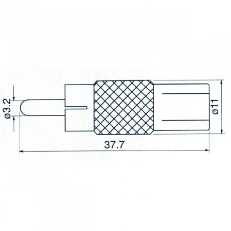 Imagine Adaptor RCA la mufa coaxial TV T-M, ZLA0470-1