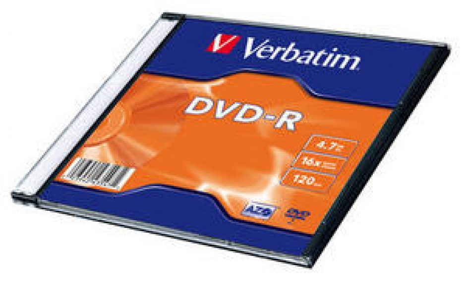 Imagine BLANK DVD-R Verbatim SL 16X 4.7GB SINGLE SLIM CASE MATT SILVER